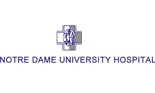 notre dame university hospital logo case study page